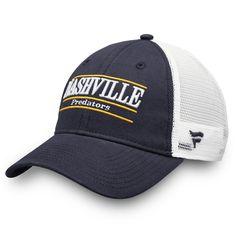 Men s Nashville Predators Fanatics Branded Navy Trucker Team Color Adjustable  Hat 92df44f61c39