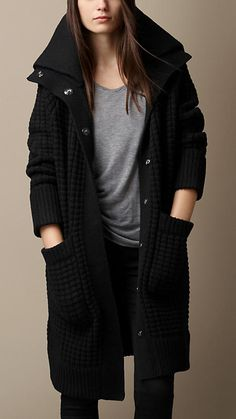 Wool Cashmere Knit Cardigan Coat | Burberry