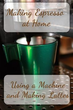 How to make espresso, lattes, and Americanos at home using an espresso machine. Easy, delicious, and much less costly than a coffee shop! Breville Espresso Machine, Home Espresso Machine, Espresso Machine Reviews, Cappuccino Machine, Espresso Maker, Latte Machine, Coffee Machine, Espresso Recipes, Espresso Drinks