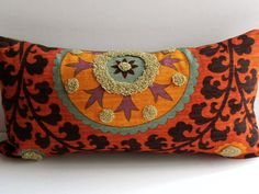 Suzani Tribal Print Pillow Cover Designer Home Decor Fabric-Throw Pillow-Lumbar Pillow-Couch Pillow-Living from PillowChix on Etsy. Textiles, Couch Pillows, Throw Pillows, Lumbar Pillow, Suzani Fabric, Deco Boheme, Pillow Fight, Home Decor Fabric, Tribal Prints