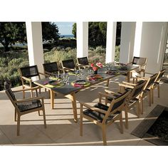 Barlow Tyrie Monterey Teak and Ceramic 118 Rectangular Dining Table Teak Dining Table, Outdoor Dining Furniture, Outdoor Dining Set, Garden Furniture, Outdoor Decor, Dining Sets, Outdoor Living, Villa, Furniture Styles