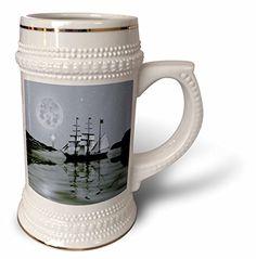 SmudgeArt Flood Art Ship Designs - Pirate Cove By Night- SmudgeArt Art - 22oz Stein Mug (stn_6672_1) 3dRose http://www.amazon.com/dp/B0147A1OTO/ref=cm_sw_r_pi_dp_tL8bwb0P5QKCQ