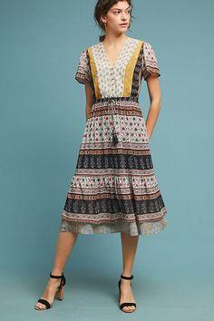 9f1359c5139b Slide View: 1: Provencal Midi Dress Preppy Fashion, Dress Fashion, Boho  Fashion. Anthropologie
