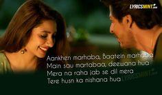 Zaalima Lyrics Quote from Raees starring Shahrukh Khan .