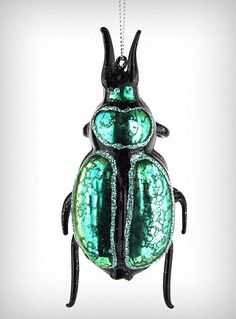 I know this ornament isn't for everyone. But I have always been awfully fond of beetles. I'd love to have this big old beetle on my tree.