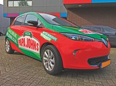 #papajohns #carwrap #autobestickering #autobelettering #autoreclame #signing #branding #bedrijfsreclame #blsreclame