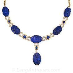 Art Deco Lapis Lazuli Necklace, 1930s