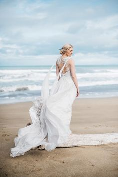 Ethereal Winter Beach Wedding Editorial