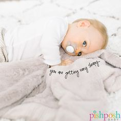 """If you've ever wanted to wrap your baby in the most squishy, cozy, and beautiful blanket ever, your search ends here. We are in <3 with our collection of receiving blankets by Saranoni! Makes a perfect gift! Shown: Receiving Blanket in Light Grey Lush, 30"""" x 40"""", just $42.  http://www.pishposhbaby.com/saranoni.html"""