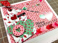 #ValentinesDay card from Michelle Philippi! #crafting #cardmaking