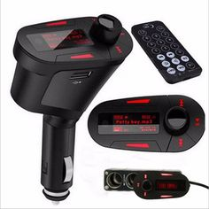 New Car MP3 Player bluetooth kit FM Transmitter Modulator USB MMC LCD with remote hot selling