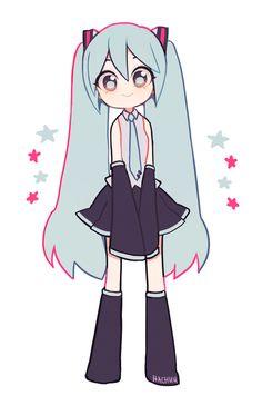 VocaloidddddYou can find Hatsune miku and more on our website. Anime Chibi, Kawaii Anime, Arte Do Kawaii, Kawaii Art, Miku Chibi, Manga Anime, Cartoon Kunst, Anime Kunst, Anime Art