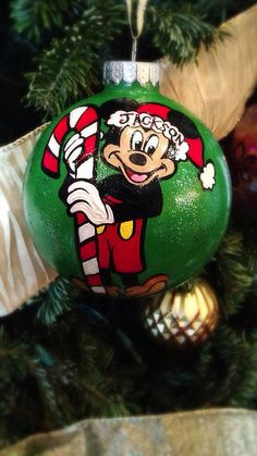 Mickey 1st Christmas ornament on Etsy, $20.00