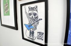 Hometalk :: T-Shirt Gallery Wall for a Boy's Bedroom