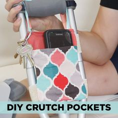 These DIY Crutch Pockets Make Breaking A Leg A Bit Less Awful