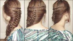 This makes me wish I had long hair. I LOVE THIS!  Mermaid braid :)