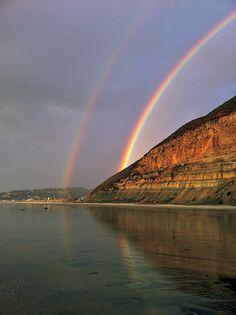 Double rainbow, Torrey Pines