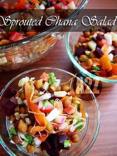 Sprouted Black chickpea salad #Healthy #Salad