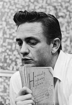 Johnny Cash, 1961 With his mother's Hymn Book | Leigh Wiener