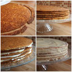 Tento dort je stálicí našich rodinných oslav, peču ho několikrát do roka a neskromně se pochlubím, že kupovaný medovník už nikdo z naší rodiny nechce. Recept je možná trochu časově náročný, ale určitě není nijak složitý. Na dort o průměru 25-30cm si připravte: 400g hladké mouky 300g cukru 1 máslo 3 vejce 3 lžíce medu…