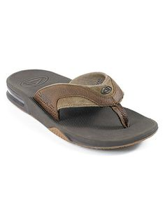 1f5025336 REEF Leather Fanning Bottle Opener Thong Sandals   Reviews - All Men s  Shoes - Men - Macy s