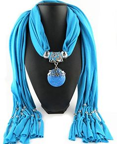 Jemis Party Women Scarf Neck Wrap Necklaces Jewelry (Azure) Jemis http://www.amazon.com/dp/B0127CKQPW/ref=cm_sw_r_pi_dp_M5O6vb0G9NNMM