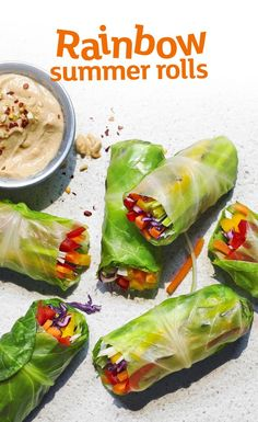 These summer rolls are absolutely packed with veggies and make the perfect snack or starter. Someone pass the satay sauce!