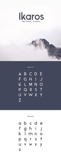 Typography & Fonts // I like the Ikaros font
