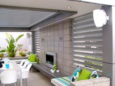 Outdoor Aluminium Louvre Opening Roof Systems by Weathersmart Melbourne House, Pergola With Roof, Home, House Styles, New Homes, Outdoor Living Rooms, Outdoor Dining, Exterior Decor, Roof Design