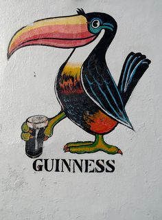 Guinness: this would not be hard to reproduce and make into a fridge magnet ... or better yet, while you are doing this, drink a bottle of Guinness , saving the bottle cap and make another fridge magnet!