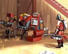 Team Fortress 2 - On Defense by OuterKast.deviantart.com on @deviantART