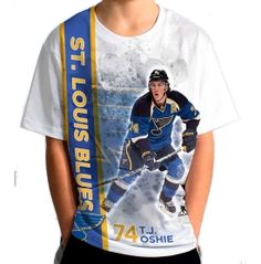Levelwear Youth St. Louis Blues T.J. Oshie #74 Breakaway White T-Shirt - Dick's Sporting Goods