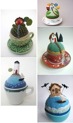 teacup craft: felt sculptures