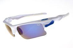 71f9a0f3e8 Biggest sale of the season.Oakley Fast Jacket Semi-Rimless White Sunglasses   12.99 -
