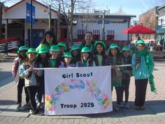 Girl Scouts Marched in Saint Patrick's Day Parade photo: Girl Scouts from Brownie Troop 2025 and Junior Troop 6579 donated over 300 boxes of cookies to wounded soldiers at Walter Reed Army Medical Center. Photographer: Carla Robinson This photo was uploaded by gscnc