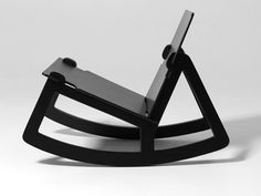 Rock Chair is a knock-down design sold in a flat pack. The five pieces are easy to fit together. When the chair has been assembled, the construction is its expressive feature. Nothing is hidden and one can see how the chair holds together.""