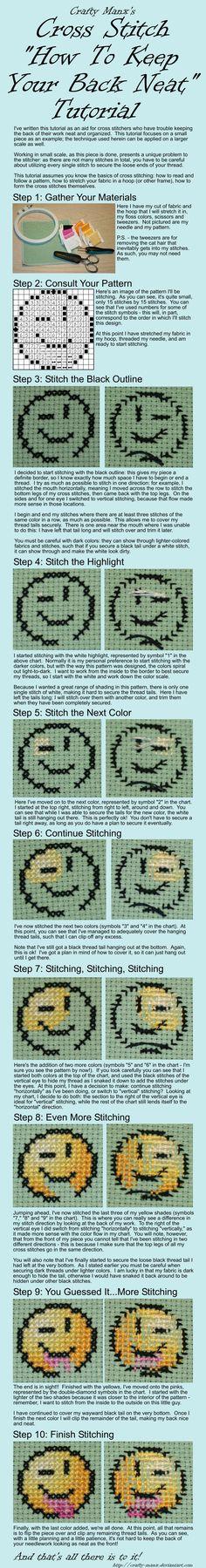 CrossStitch Neat Back Tutorial by crafty-manx.deviantart.com on @deviantART