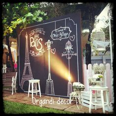 mutierwin organdi decor paris chalkboard photobooth
