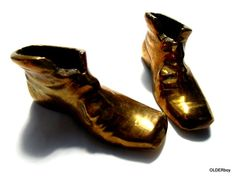 Vintage BRASS SHOES, paperweight, brass paperweight shoes A00/003