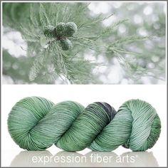Cypress - superwash merino wool Resilient sock yarn by Expression Fiber Arts
