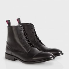 Paul Smith Women's Shoes - Black Calf Leather Angus Boots