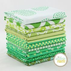 Green - Fat Quarter Bundle (GR.12FQ.D) by Mixed Designers for Southern Fabric