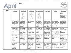 Speech and Language Development Calendars