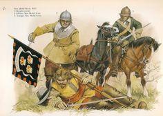 Angus McBride - La caballería del New Model Army captura un alférez realista, 1645 (Guerra Civil Inglesa).