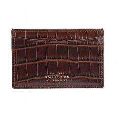 Smythson brown mara card case