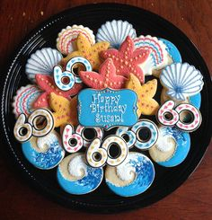 Birthday Cookies by Kelley Hart Custom Cookies Birthday Cake Cookies, Cupcake Cookies, 60th Birthday Ideas For Mom, 60th Birthday Party, Mom Birthday, Crazy Cookies, Cut Out Cookies, Iced Cookies, Sweet Cookies