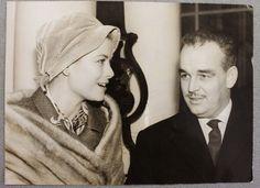 Fotografia d'epoca Principe Ranieri III di Monaco e Grace Kelly a Londra 1959