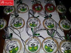 #Galletas/ #Cookies medalla con el diseño de una ranita para la fiesta de fin de curso. #niños #kid #fondant