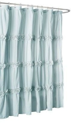 Lush Decor Darla Horiz Texture Shower Curtain