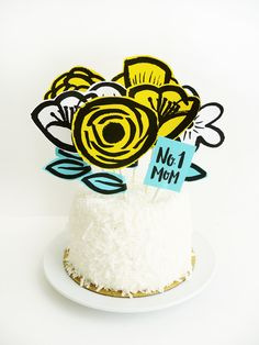 Printable Mother's Day Garden Cake Topper